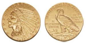 1911 D Indian Head gold