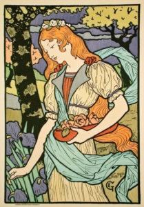 ART NOUVEAU Lithograph Print by Eugene Grasset
