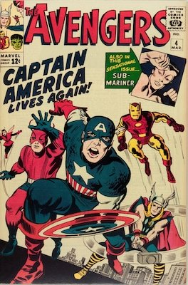 Avengers Captain America Comic Rare Collectible