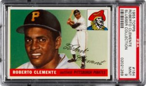 Roberto Clemente Signed Baseball Card 1955