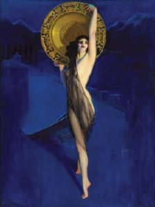 Rolf Armstrong American  1889 1960 The Enchantress brown and Bigelow calendar