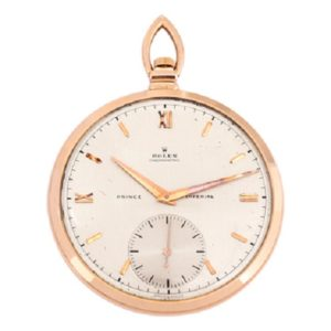 Rose Gold Prince Imperial open face pocket watch