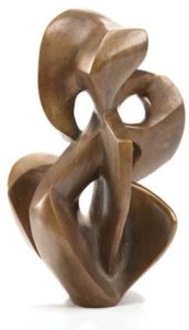 "Untitled,"" Day Schnabel American 1905 to 1991 1955 Bronze"