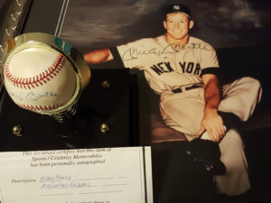 Mickey Mantle Signed Baseball and Photograph