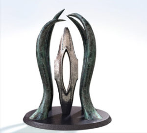 Sailform - By Larry Griffis Abstract, Bronze, Steel, Figurative
